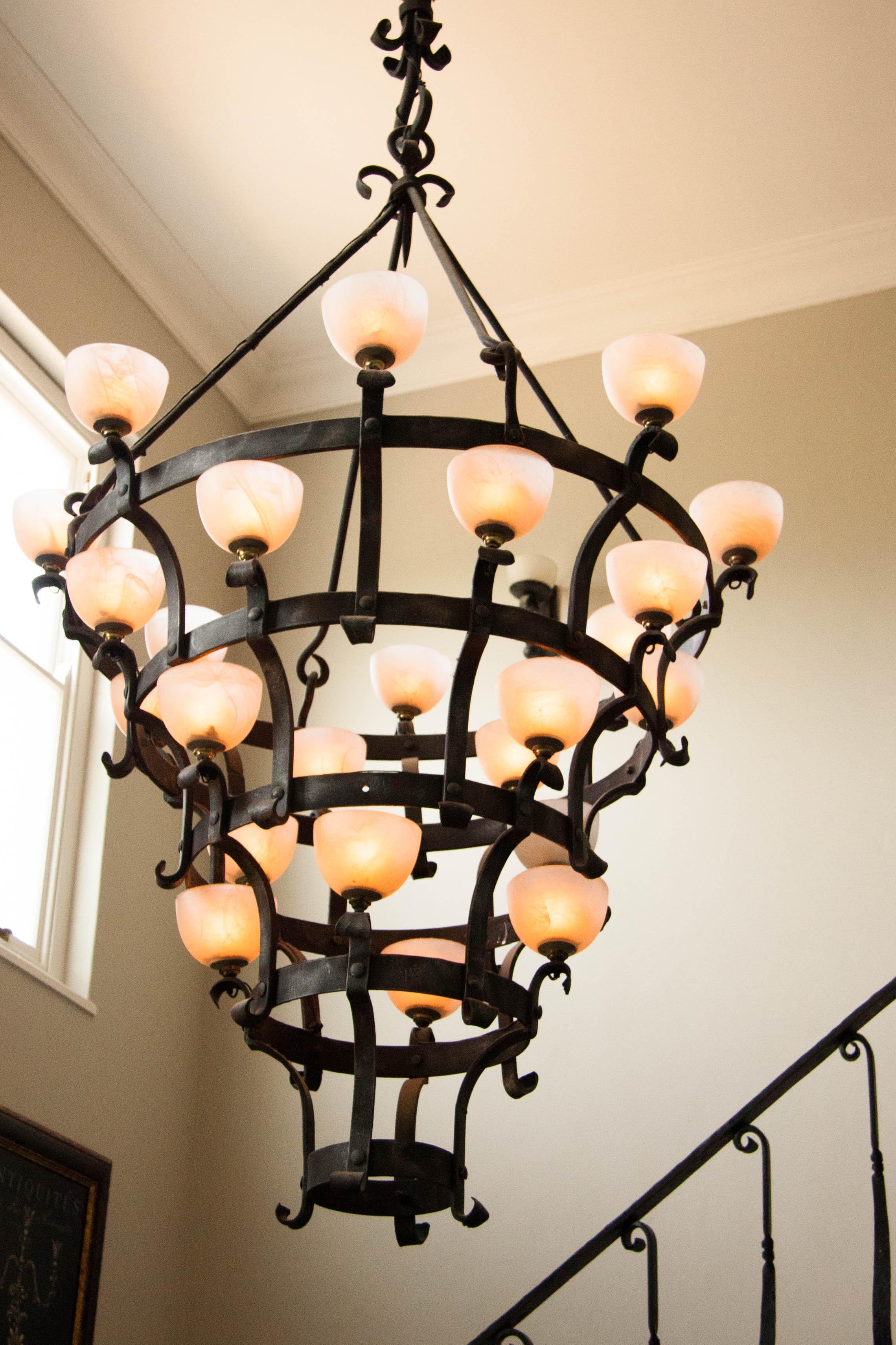 Portfolio custom design custom chandelier chandelier cape town forged chandelier custom metal arubaitofo Choice Image